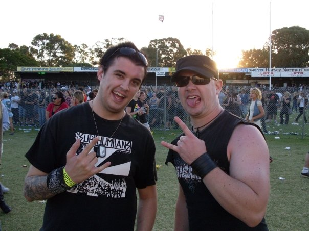 Above: Ael and Andy rub shoulders at Soundwave way back in 2009.