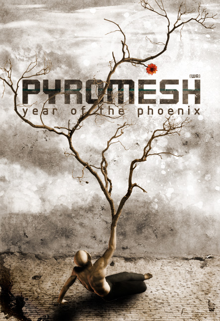 Pyromesh 2006:A tour poster based on the CD artwork, created by Ashley.
